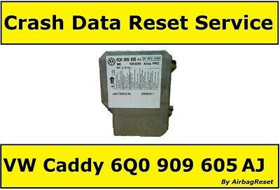 Crash Data Reset Service For 6Q0909605AJ Volkswagen Caddy Airbag 6Q0 909 605 AJ