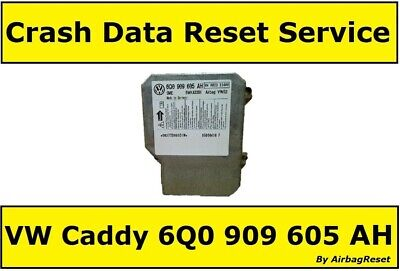 Crash Data Reset Service For 6Q0909605AH Volkswagen Caddy Airbag 6Q0 909 605 AH