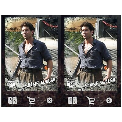 2x ROAD TO ALEXANDRIA SELECTS CHARACTER SHANE WALSH Walking Dead Trader Digital
