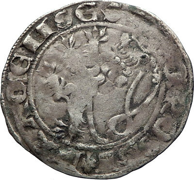 1310AD BOHEMIA Holy Roman Empire JOHN the BLIND Prague Silver Coin LION i73859