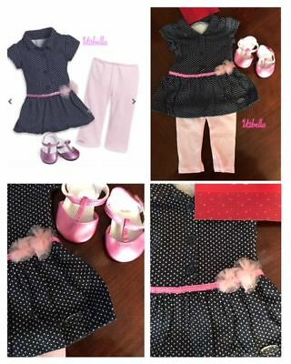 "American Girl Dot Dress Outfit for 18"" dolls NEW TRULY ME"