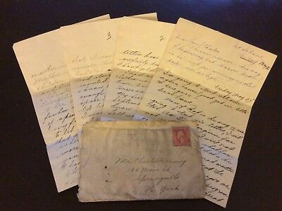 WW1 era letter, to Charles in springville N.Y, news, homesick, 8 pages, want to