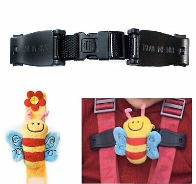 Car Seat Buggy Highchair Safety Harness Strap Anti Escape Child Chest Clip