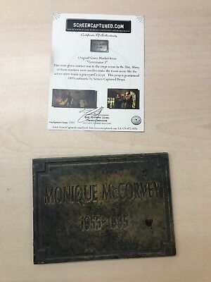 Original Grave Marker From TERMINATOR 3 Movie Prop With COA