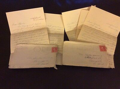 2 WW1 era letters, to Charles in Springville NY, news, homesick, school, plans
