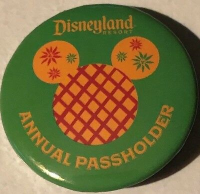 Disney Festival Of Holidays Mickey Button, New 2018  Annual Passholder Exclusive