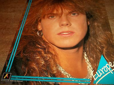 1 Large Joey Tempest Of Europe   Pop Card-Approx. 20 X 25Cm As New