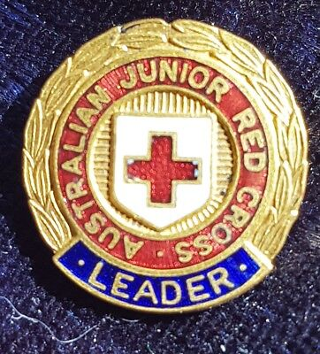 Australian junior red cross badge Leader enamelled made by Swann and Hudson