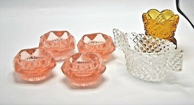 Lot Of 6 Vintage Salt Cellars