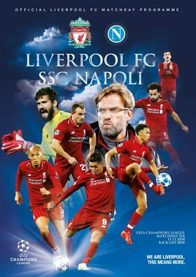 LIVERPOOL v NAPOLI 11/12/2018  OFFICIAL PROGRAMME