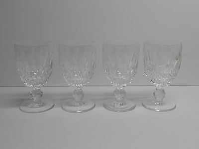 "4 Waterford Colleen 4 3/4"" Tall Claret Wine Glasses"
