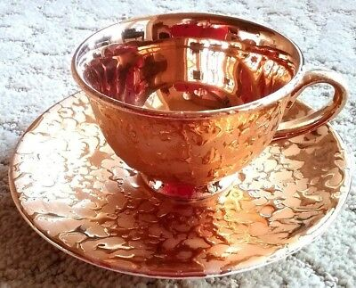 VINTAGE 22K Gold Weeping-Bright Gold Cup and Saucer