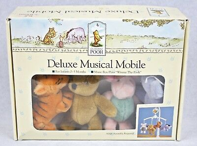 WINNIE THE POOH Deluxe Musical Mobile In Box + Tigger Piglet Crib Music Classic
