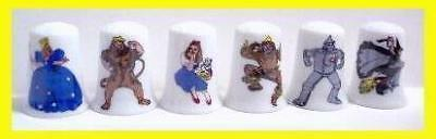 Super Nice Lot of 6 The Wizard of Oz Thimble Set