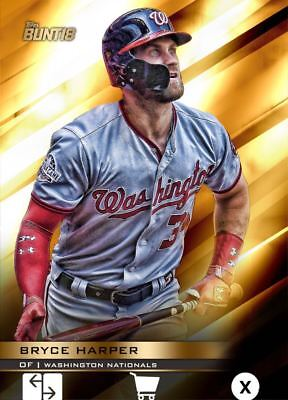 2018 PERENNIAL GOLD BASE BRYCE HARPER 100cc Topps Bunt Digital Card