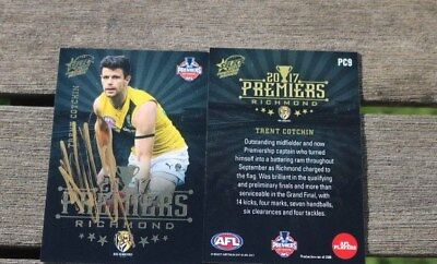 Afl Richmond Tigers   Trent Cotchin Signed Premieship Select  2017 Card