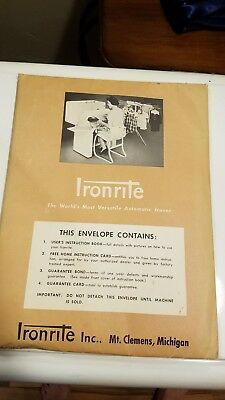 Vtg IRONRITE Mangle IRON PRESS Automatic Ironer