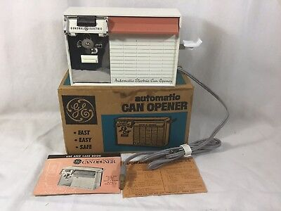 NOS Vintage Retro GE Automatic Electric Can Opener New Old Stock Appliance