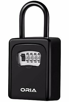 ORIA Key Storage Lock Box, 4 Digit Combination Wall Key Safe Security Storage