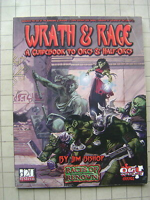 WRATH & RAGE Guidebook to ORCS & HALF-ORCS unused d20 D&D 3E Dungeons & Dragons