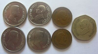 Mixed Lot of Coins From Country of Jordan. Dinar, Piastres & Fils