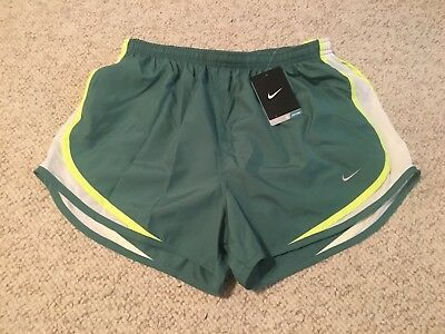 NEW Nike Dri-Fit Womens Tempo Lined Running Shorts - Green
