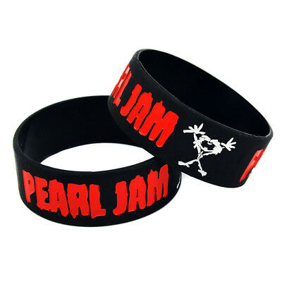 1PCS Pearl Jam Silicone Rubber Wristband Bracelet 1inch