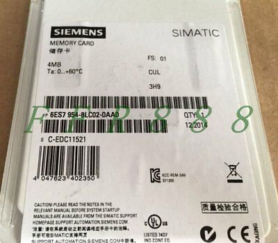 ONE NEW Siemens 4MB Memory Card 6ES7 954-8LC02-0AA0 6ES79548LC020AA0