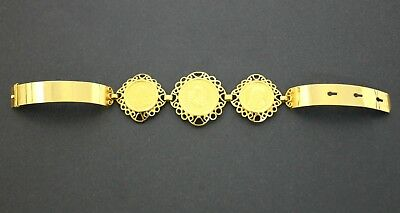 Ladies 22K Gold South African Krugerrand Coin Bracelet with 18K Band