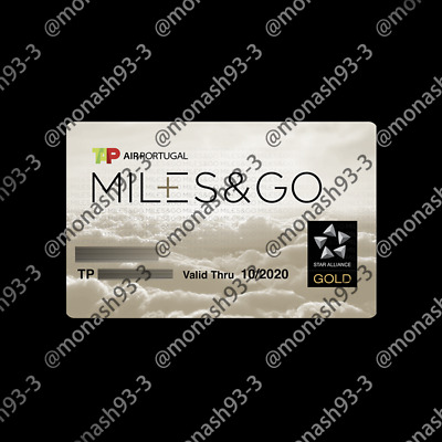 Star Alliance Air Portugal TAP Miles&Go GOLD Membership INVITATION to 2020/10