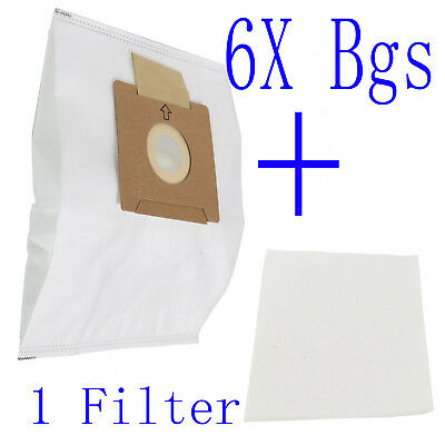 6X Synthetic Dust Bags Fits Wertheim w2000db4.1 Vacuum Cleaner 32440298 3D Type