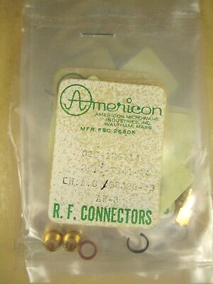 Americon  SMA Connector Assembly  FSC 26805  Lot of 5
