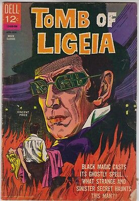 TOMB OF LIGEIA Dell Movie Comic 1965 VG-