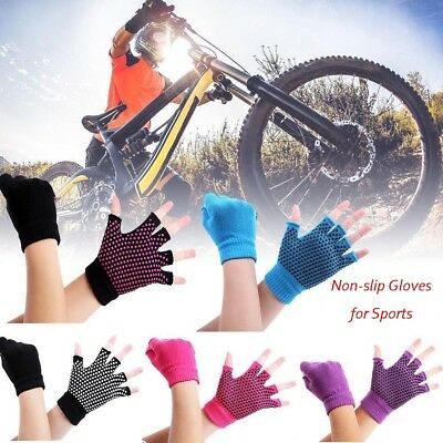 Women Men Yoga Fitness Gloves Rubber Gym Training Sports Non-slip Mitten Gloves