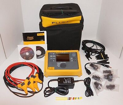 Fluke 1735 3 Three Phase Power Quality Logger Analyzer Refurbished