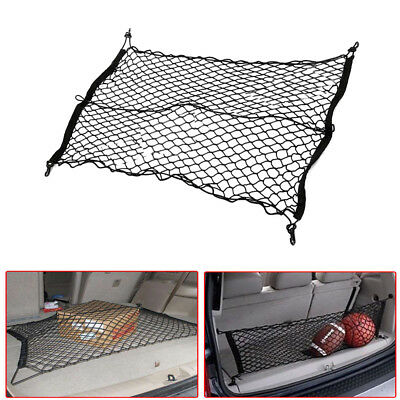 1 Set 90*60cm Black Stretchy Car SUV Trunk Rear Cargo Storage Organizer Net