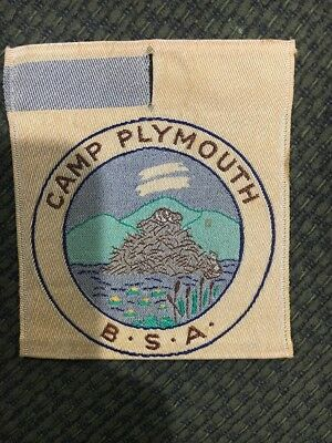 Boy Scout Camp Plymouth woven patch