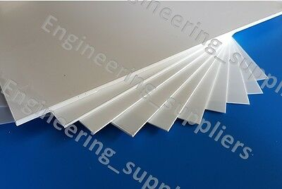 White Matt/Gloss Plasticard Selection Pack off 10, 0.25 mm to 3mm Thick A5 A4 A3