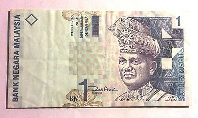 Malaysia 1RM paper bank note