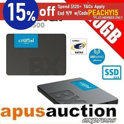 "Crucial BX500 120GB 3D NAND SATA 2.5"" SSD Solid State Drive 540MB/s Laptop PC"