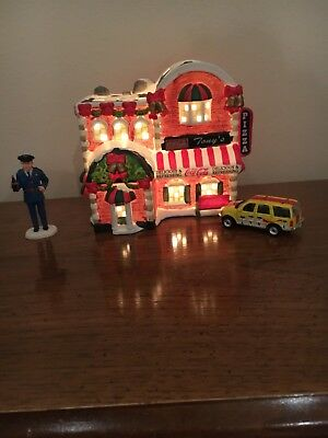 Coca-Cola Town Square Christmas Collection Tony's Pizza. With Car and Officer Pa