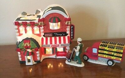 Coca Cola Town Square Collection - Tony's Pizza - With Delivery Truck and Delive