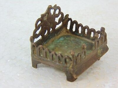 1900'S Old Antique Spiritual God's Temple Chair Brass Singh Aasan 305  - 4 #9