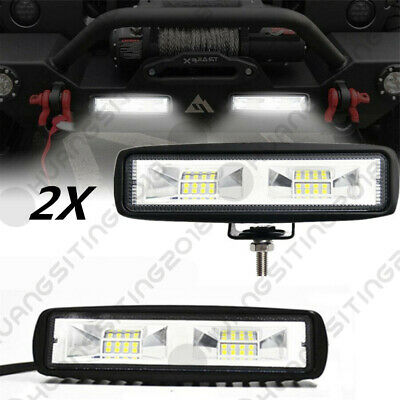 "2x 6"" LED Work Light Bar Driving Fog Lamp Offroad 4WD ATV RV Boat For Arctic Cat"