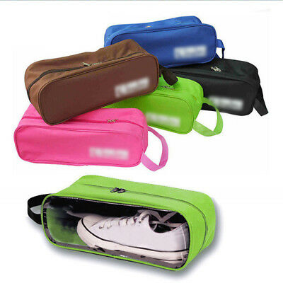 Portable Waterproof Shoes Storage Bag Travel Tote With Hanging Handle 4 Colors