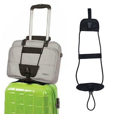 Add Bag Strap Travel Luggage Suitcase Adjustable Belt Carry On Bungee Easy Safe