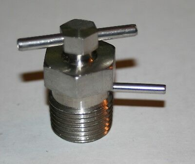 "1/2"" MNPT 316ss Pressure Relief Bleed Valve (0-3000 Psi) Panam Engineering"