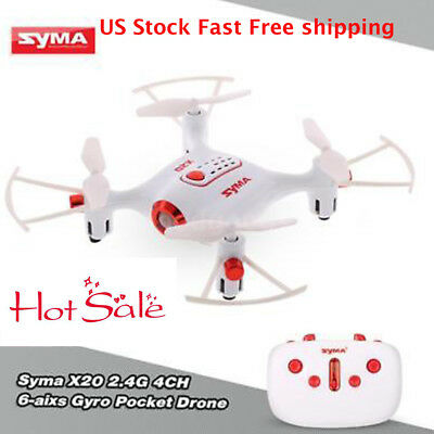 US Stock Syma X20 Pocket Drone RC Quacopter Headless Altitude Hold 3D-Flip L9G7