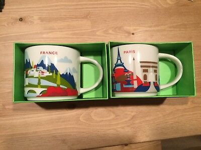 Starbucks Paris and France You are Here Collection 14 oz Coffee Mug Collection