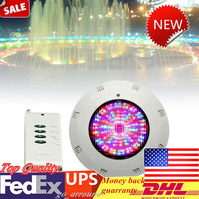 252 LED 18W Fountain Swimming Pool Spa Lights RGB 12V Underwater Lamp+Remote US